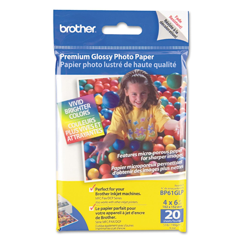 Brother Innobella Premium Glossy Photo Paper, 51 lbs., 4 x 6, 20/Pack