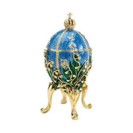 Design Toscano The Empress Collection Romanov Style Enameled Egg: -