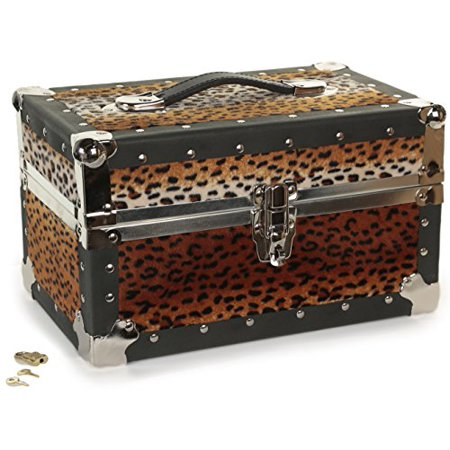 Base Camp Storage - Summer Camp and College Dorm Mini Storage Trunk Organizer Keepsake Box Treasure Chest Footlocker  W Tiger