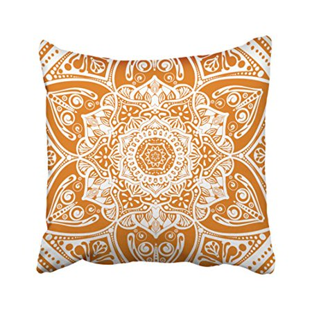 WinHome Decorative Pillowcases Pumpkin Pie Mandala Throw Pillow Covers Cases Cushion Cover Case Sofa 20x20 Inches Two Side ()