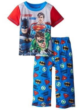 Justice League Feel The Power Toddler Pajama Set for boys, Black, Size: 4/5