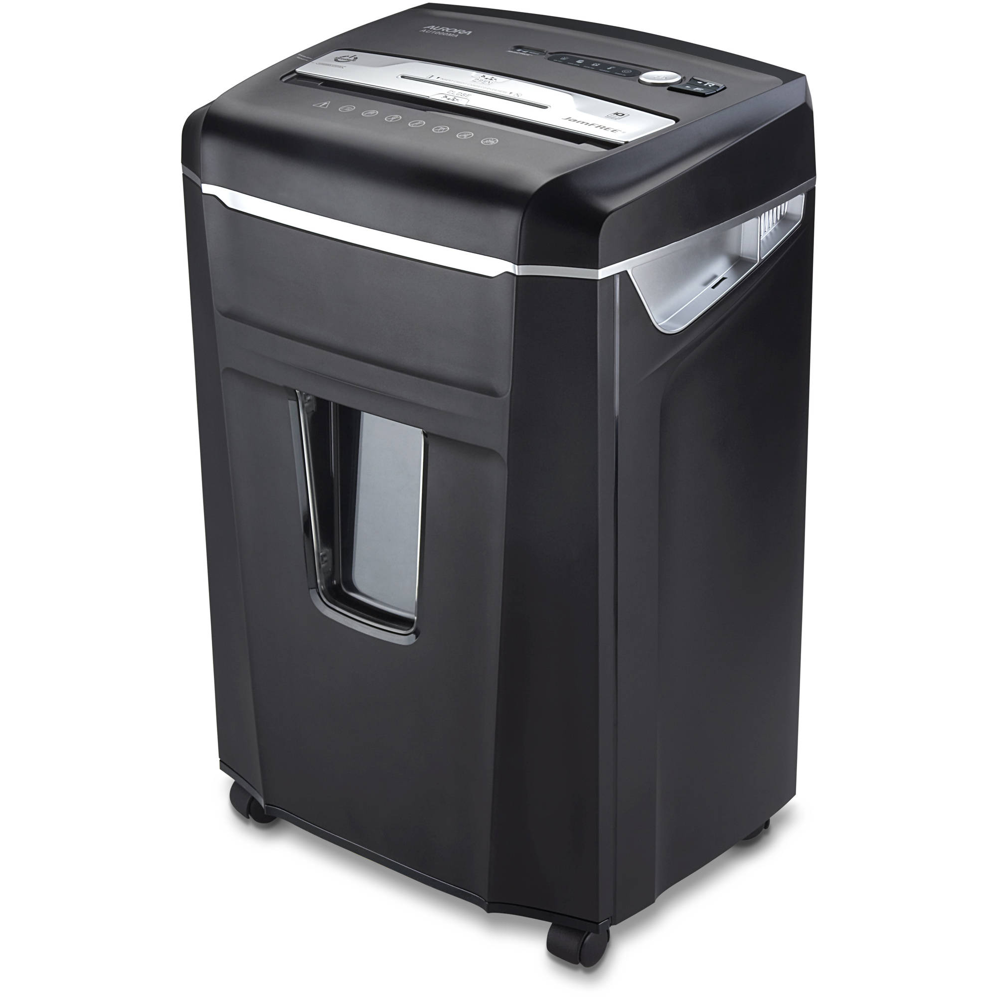 Aurora High Security JamFree AU1000MA 10-Sheet Micro-Cut Paper/CD/Credit Card Shredder with Pull-Out Wastebasket