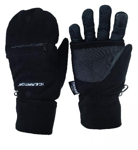 Clam Outdoor Winter Ice Fishing 9773 Icearmor Deluxe Fold Back Mitts (Med) by Clam Outdoors