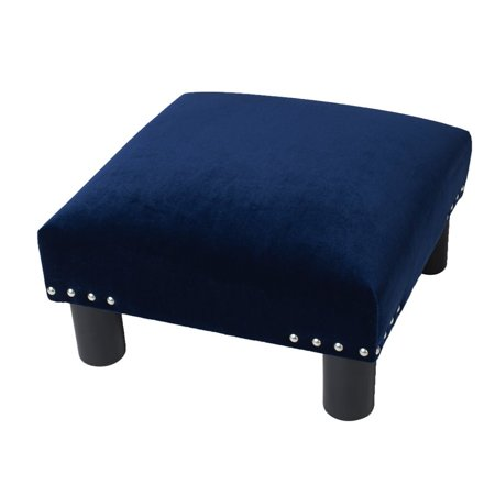 Jules Square Accent Footstool Ottoman Navy Blue - image 9 of 9