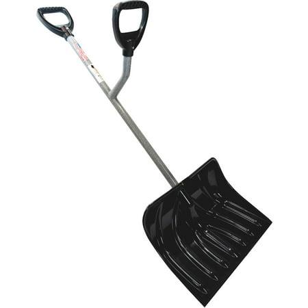 18 Inch Steel Snow - Ergie Shovel Ergonomic 18-Inch Two-Handed Ergonomic Snow Shovel