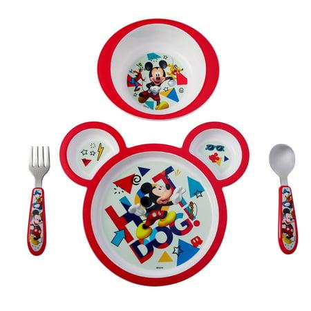 Easy Grip Feeding Set - Disney Mickey Mouse 4-Piece Feeding Set