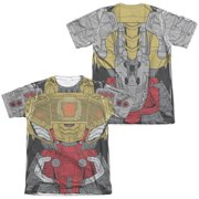 Trevco Sportswear HBRO244FB-ATPC-2 Transformers & Grimlock Costume Front & Back Print-Adult Poly & Cotton Short Sleeve Tee, White - Medium