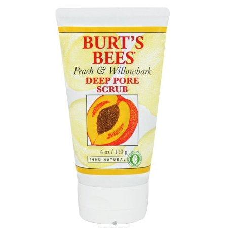 Burts Scrub Peach/Wlbk Size 4.Z Burt'S Bees Peach And Willowbark Deep Pore Scrub - image 1 de 1