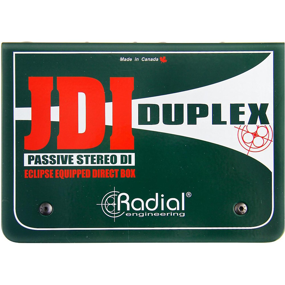 Radial JDI Duplex Two-Channel Passive Stereo Direct Box
