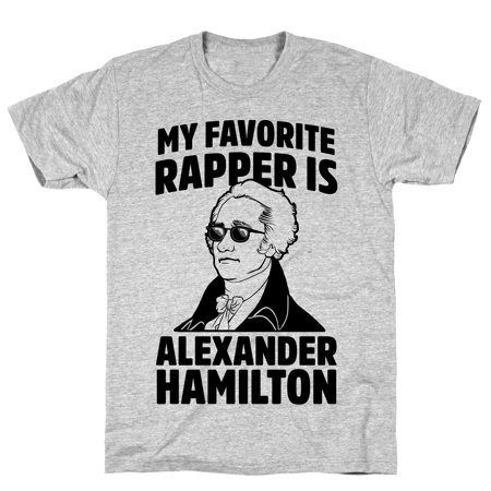 LookHUMAN My Favorite Rapper is Alexander Hamilton Athletic Gray Men's Cotton