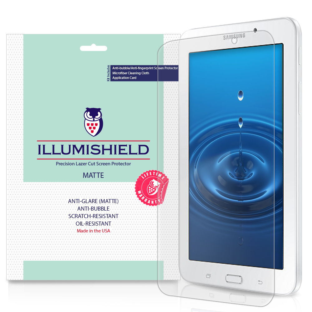 2x iLLumiShield Matte Anti-Glare Screen Protector for Samsung Galaxy Tab E 7.0
