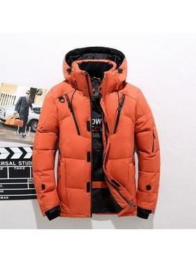 Winter Warm White Duck Thick Down Jacket Veste Outwear Men's Snow Parka Hooded Jacke Coat