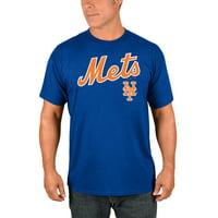 Men's Majestic Royal New York Mets Bigger Series Sweep T-Shirt