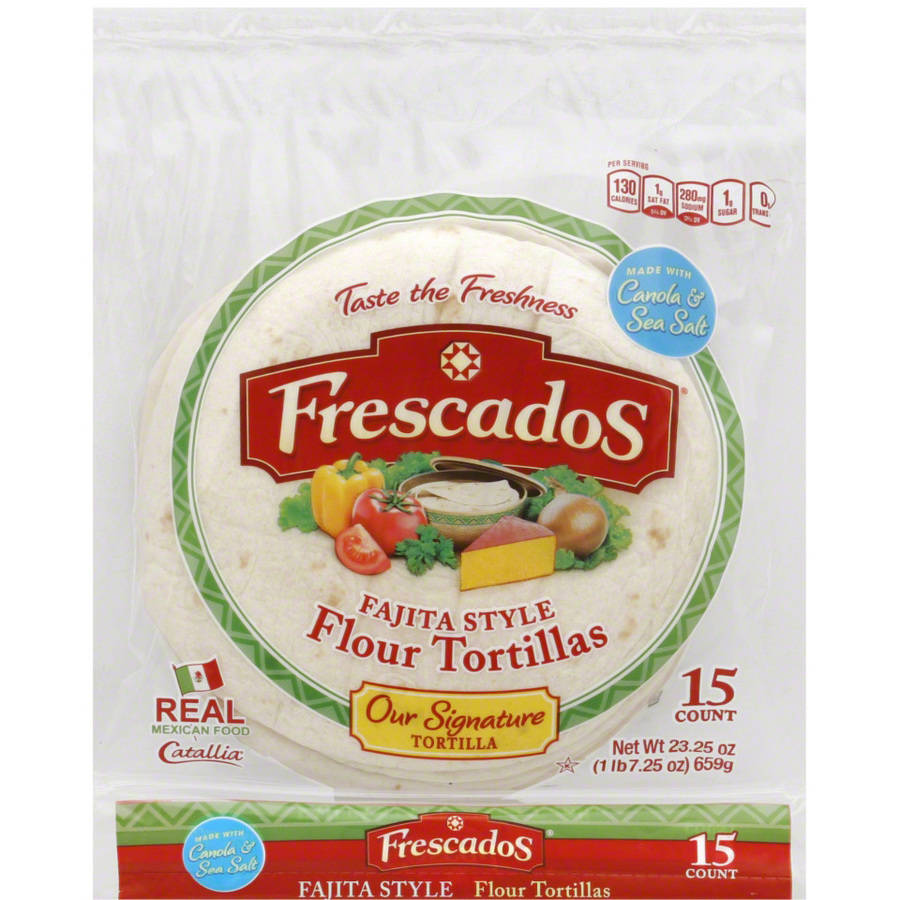Frescados Fajita Style Flour Tortillas, 23.25 oz, (Pack of 8) by