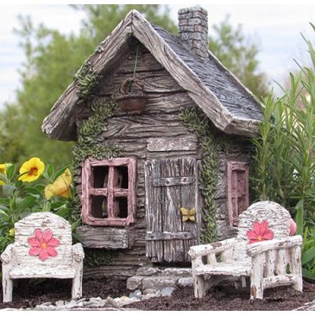My Fairy Gardens Fairy Shed w/ Swinging Door New Fairy House Fairy Cottage (Garden Fairy Party)
