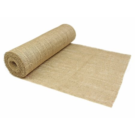 "CleverDelights 14"" Natural Burlap Roll - 10 Yards - Eco-Friendly Jute Burlap Fabric"