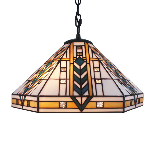 Warehouse of Tiffany Eljie 1-Light Ceiling Bowl Pendant