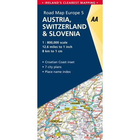 Road Map Austria, Switzerland & Slovenia - Folded Map (Aa Road Map)