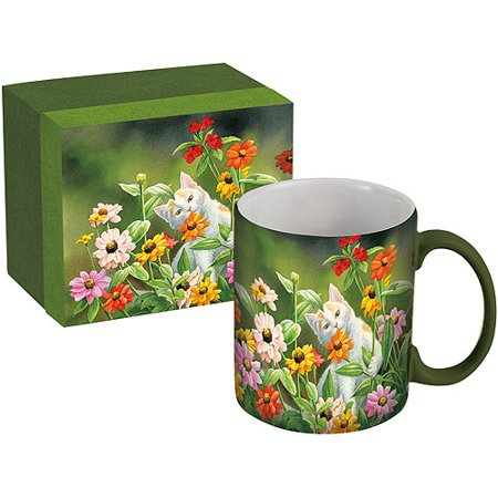 Lang 14-Ounce Ceramic Mug with Gift Box, Assorted Patterns (Ceramic Berry)