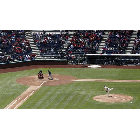 Canvas Print Pitch Baseball Throw Sport Ball Game Player Stretched Canvas 10 x