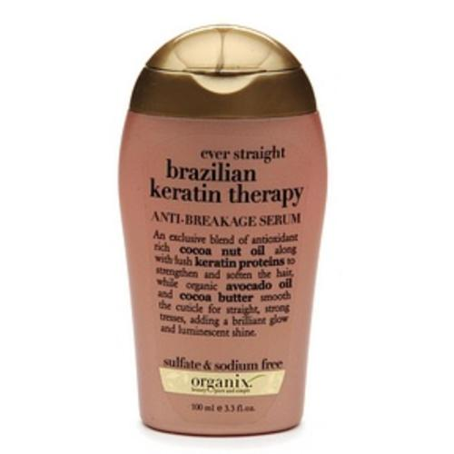 Organix Ever Straight Brazilian Keratin Therapy Anti-Breakage Serum 3.30 oz (Pack of 2)