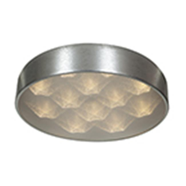 Access Lighting 70081LEDD-BSL-ACR Meteor Dimmable LED Flush-Mount - Brushed Steel & White Acrylic - image 1 of 1
