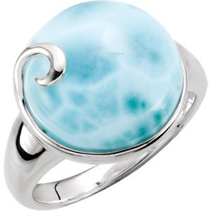 Jewels By Lux Sterling Silver Larimar Ring Size 6