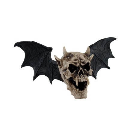 Gothic Bat Winged Demon Skull Wall Hanging