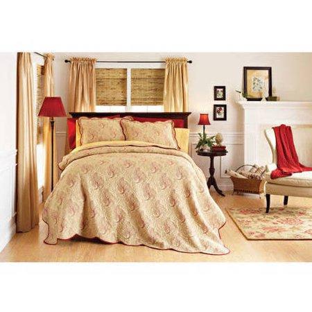Better homes and gardens pembroke matelasse quilt for Better homes bedroom ideas