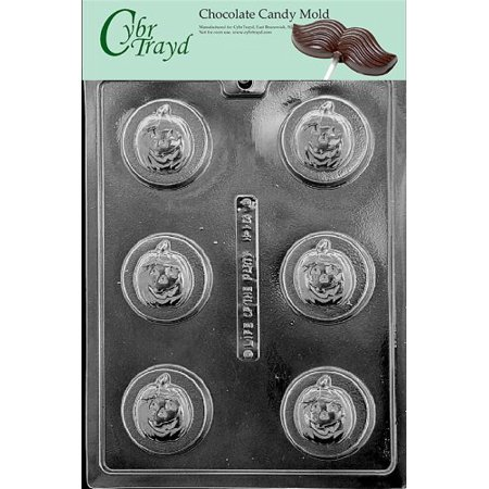 Halloween Party Sandwiches Recipe (Cybrtrayd Life of the Party H164 Halloween Thanksgiving Pumpkin Sandwich Cookie Chocolate Candy Mold in Sealed Protective Poly Bag Imprinted with Copyrighted Cybrtrayd Molding)