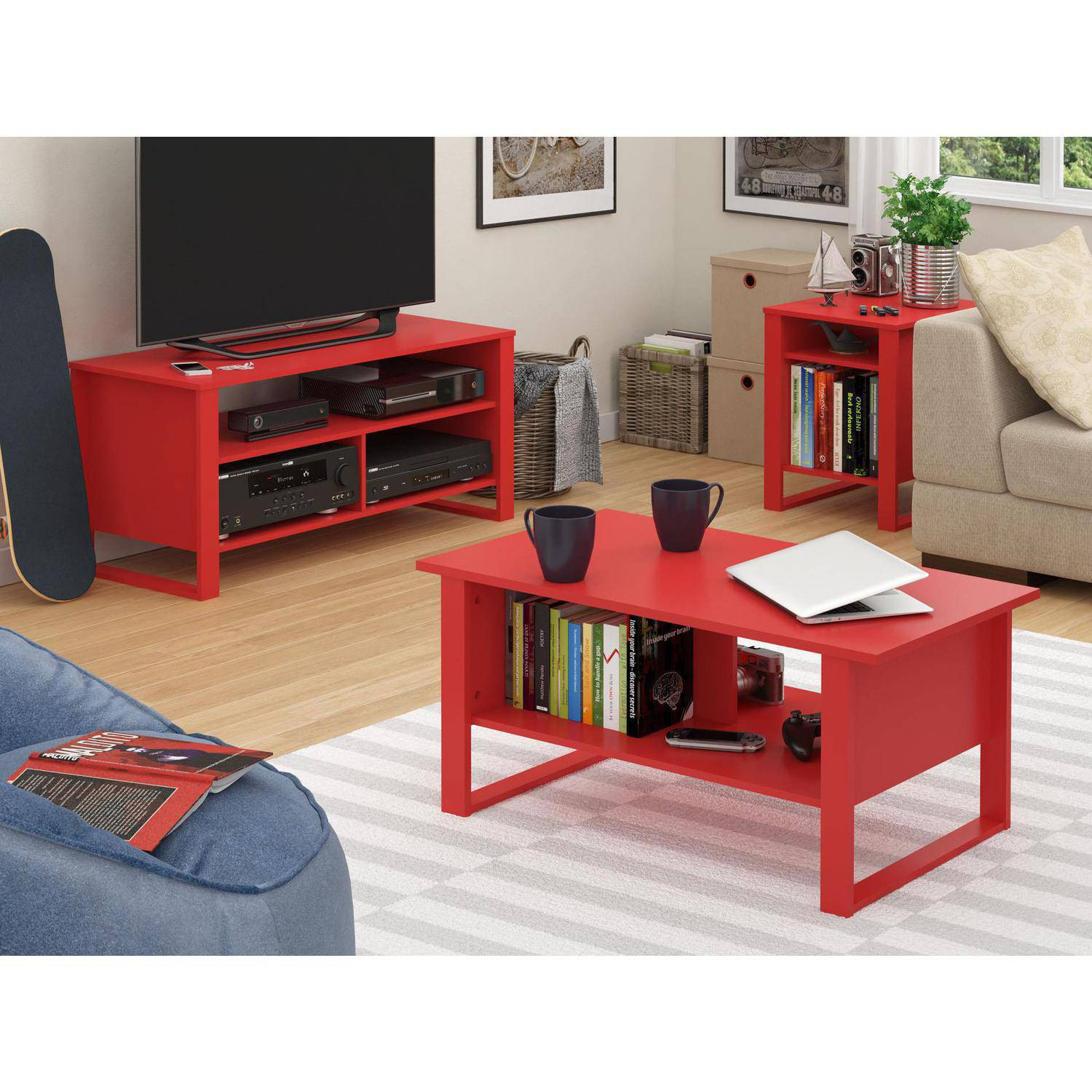 Mainstays Side Table Multiple Colors Walmart