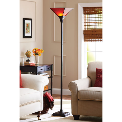 Elegant Torchiere Floor Lamp Room Light With Contemporary Bronze Modern Stand Heavy  Duty