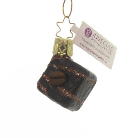 Inge Glas CHOCOLATE NOUGAT ORNAMENT Glass Candy Christmas Treats 10201S018 Dark ()