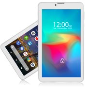 Indigi® G4i 7-inch Unlocked 4G LTE QuadCore SmartPhone & TabletPC, 2GB RAM/16GB ROM Android 9 (White)