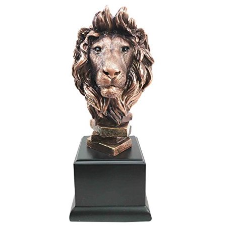 King Of The Jungle African Lion Pride Bust Bronze Electroplated Figurine Statue Savanna Animal Kingdom Great Gift For Nature Lovers Beautiful Home Decor