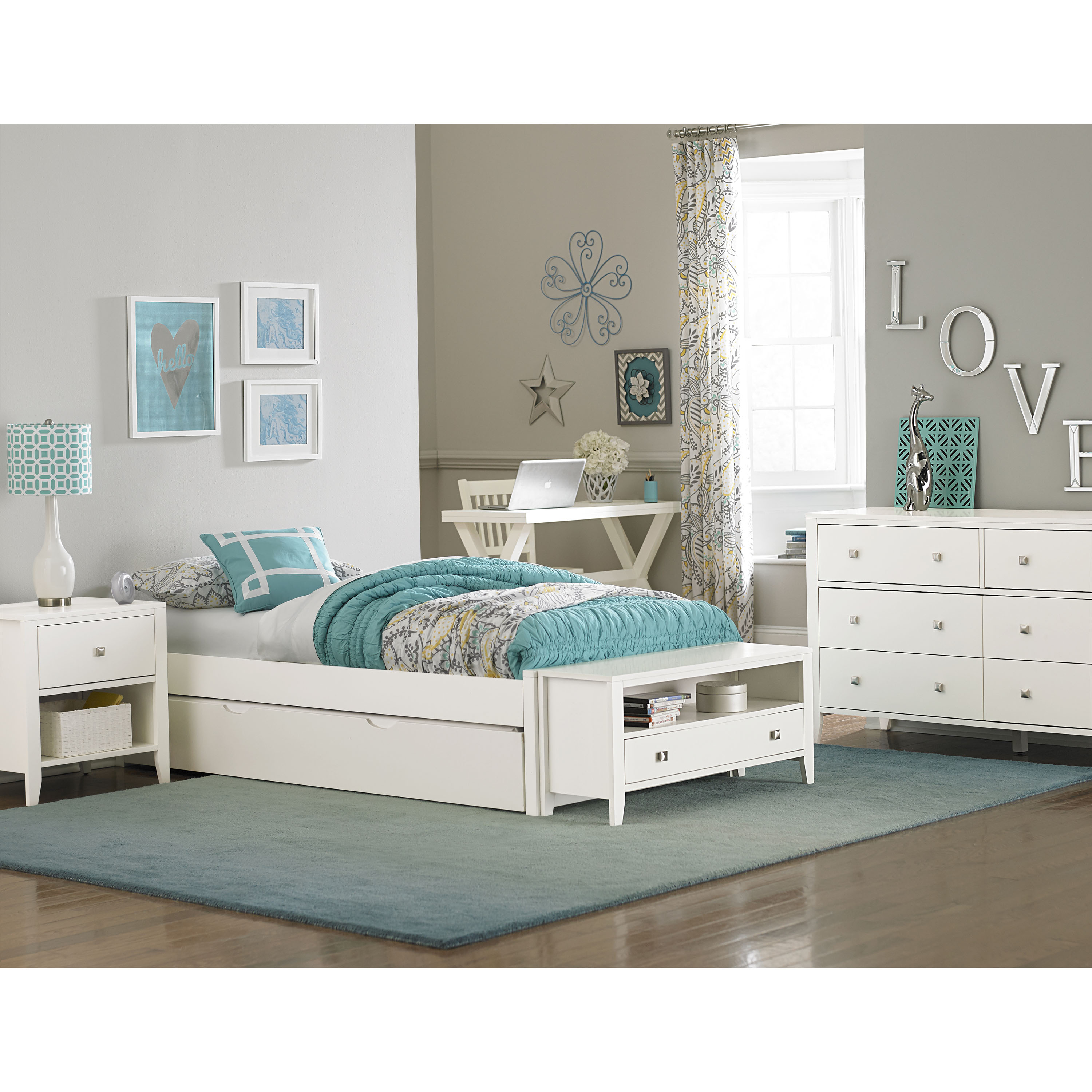 Hillsdale Pulse Platform Bed with Trundle, Multiple Sizes and Colors