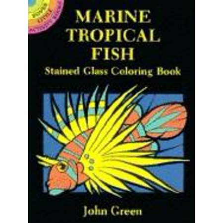 Keeping Tropical Fish - Marine Tropical Fish Stained Glass Coloring Book