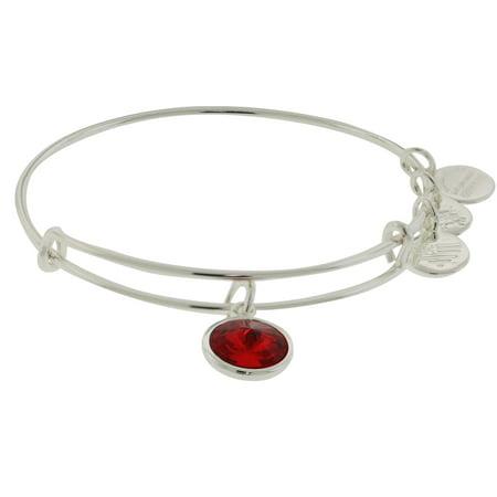Alex And Ani July Birthstone Charm Bangle Bracelet   A09eb246s