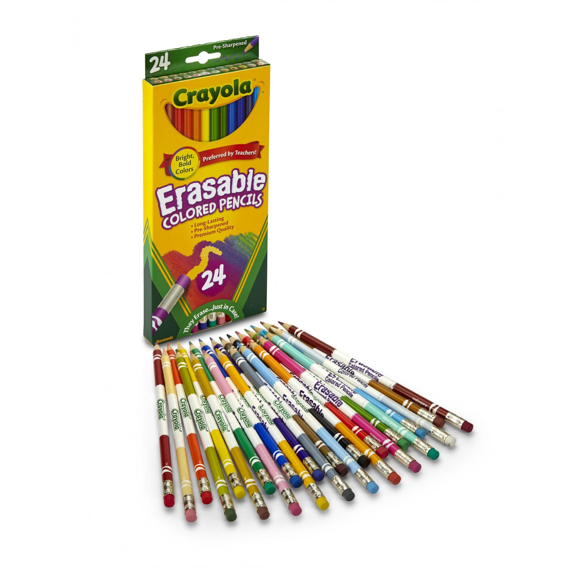 crayola eraseable colored pencils 24 count walmart com