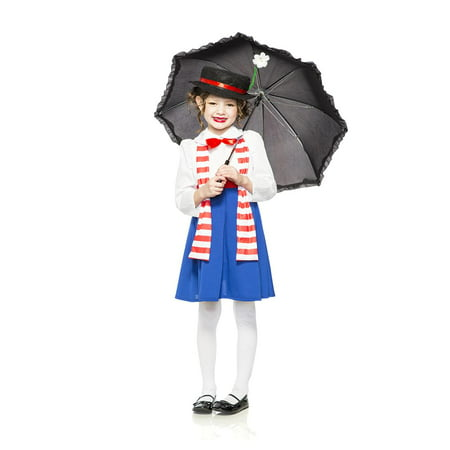 English Nanny Poppins Child Costume