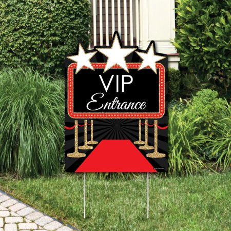 Red Carpet Hollywood - Party Decorations - Movie Night Party Welcome Yard Sign