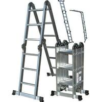 OxGord 12.5 ft 330 LB Capacity Heavy Duty Folding Ladder