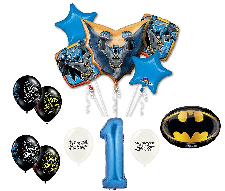 New Ultimate Batman Happy 1st Birthday Balloon Bouquet Walmart Com Walmart Com