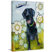 """Marmont Hill """"Happy Girl"""" by Tori Campisi Painting Print on Canvas"""