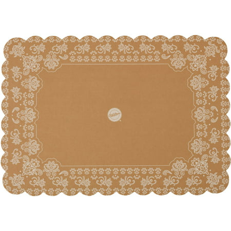 "Wilton Scalloped Kraft Paper Rectangle Cake Board, 14"" x 20"""