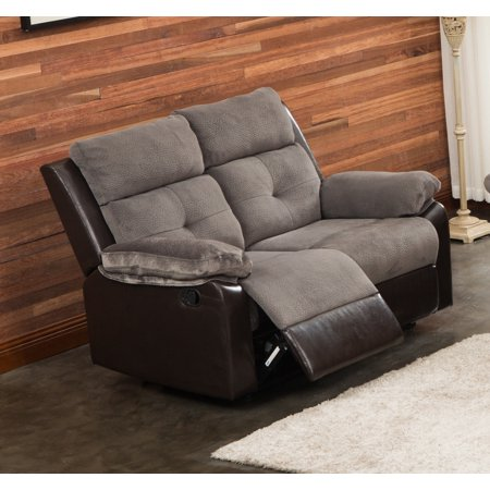 Marvelous Aira Ultra Fine Thick Fabric Reclining Loveseat Grey Alphanode Cool Chair Designs And Ideas Alphanodeonline