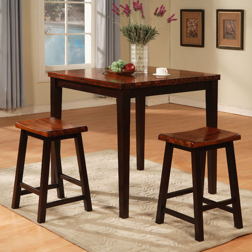 Wildon Home 3 Piece Counter Height Pub Table Set : pub table with saddle stools - islam-shia.org