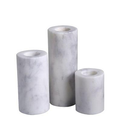 - Mercer41 Taper Cylinder Pillar 3 Piece Lady Purple Marble Votive Holder Set (Set of 3)