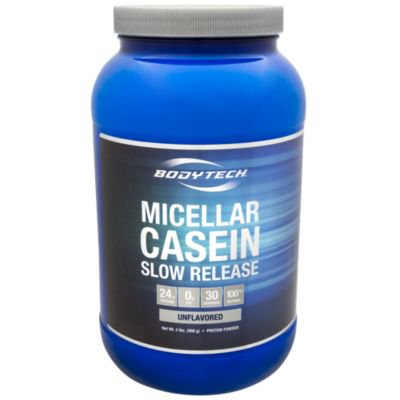 BodyTech Micellar Casein Protein Powder, Slow Release for Overnight Muscle Recovery  24 Grams of Protein per Serving  Unflavored (2