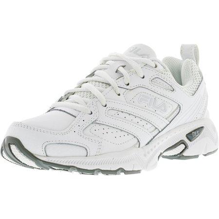 2d359d8755cc Fila - Fila Women s Capture White   Metallic Silver Ankle-High Running Shoe  - 6.5M - Walmart.com